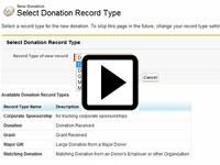 forcify.me donation types in Salesforce