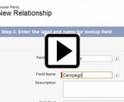 Watch the video on Salesforce Lookup relationship fields.