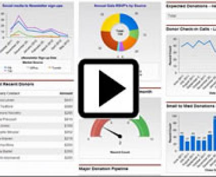 Salesforce Video Training on Dashboard Chart Types.